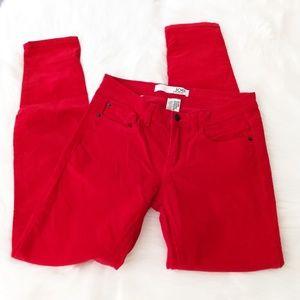 Joe Fresh Red Corduroy Skinny Jeans Leggings Slim